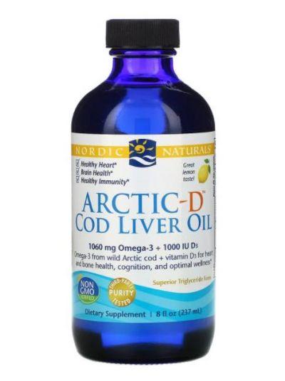 Nordic Naturals Arctic-D Cod Liver Oil, Lemon, 237 ml