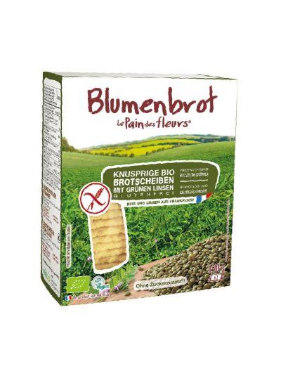 Blumenbrot Bio Grüne Linsen Knusperbrot glutenfrei 150g