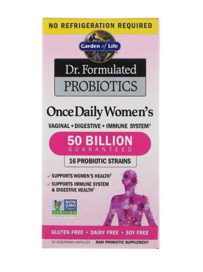 Garden of Life Once Daily Women's Probiotika für Frauen 30 vegetarische Kapseln
