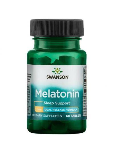 Swanson Melatonin Dual-Release Formula, 60 Tablets