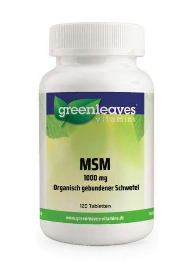 Green Leaves MSM TABLETTEN 1000 MG (OPTIMSM®) 120 Tabletten