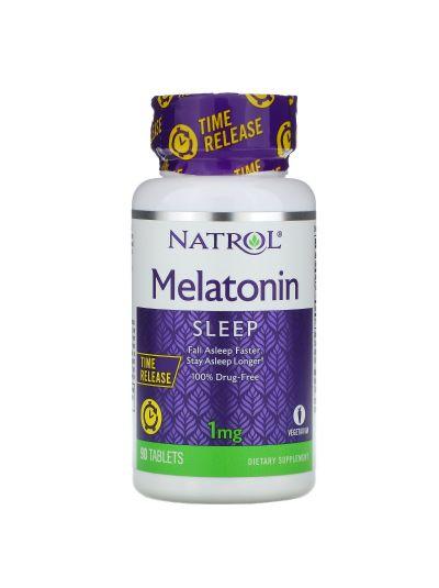 Natrol Melatonin Time Release, 1 mg, 90 Tablets