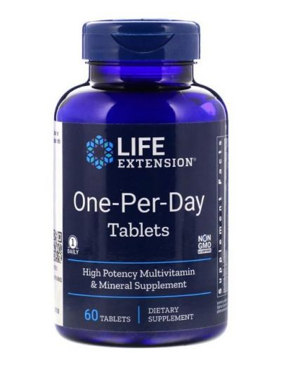 Life Extension, One per Day 60 Tabletten