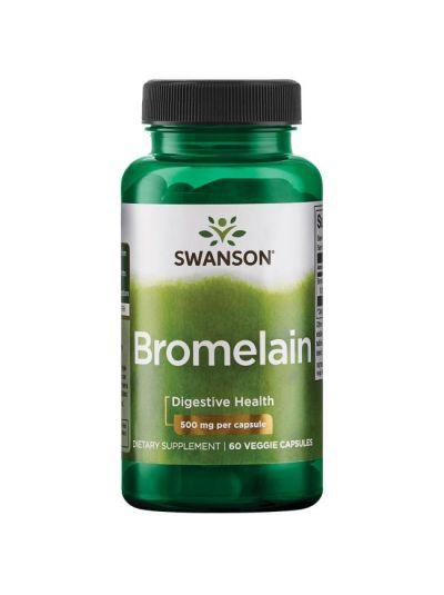 Swanson Bromelain Maximale Stärke Bromelain 1.200 GDU 500 mg 60 Kapseln