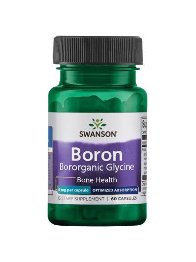 SWANSON BORON VON ALBION BORORGANIC GLYCIN 6 MG 60 KAPSELN