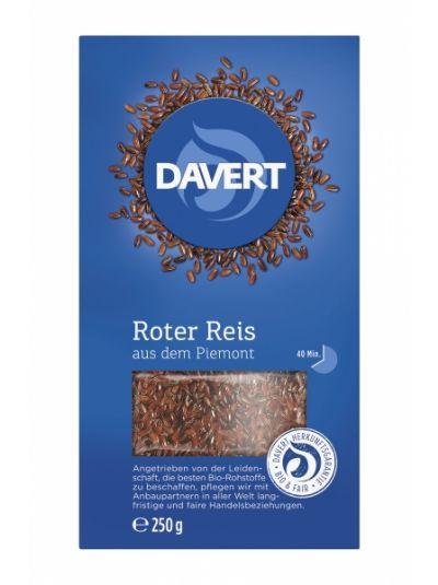 Davert Roter Reis aus dem Piemont - Premium Reis bio 250g