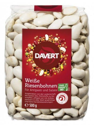 Davert Weiße Riesenbohnen Fair Trade IBD 500g