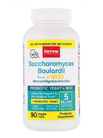 Jarrow Formulas Saccharomyces Boulardii + MOS 90 Veggiekapseln