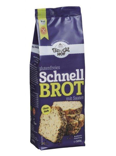 bauckhof Schnellbrot dunkel glutenfrei Bio 475g