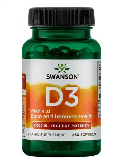 Swanson Premium Vitamin D3 Highest Potency 5000