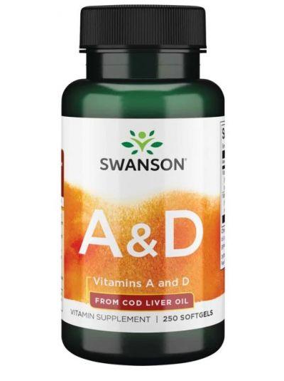 Swanson Premium- Vitamins A & D 250 Softgels