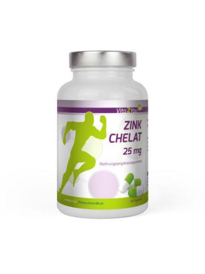 Vita2You Zink Chelat 25mg Hochwertiges Zink-Bisglycinat - Premium Qualität 120 Kapseln